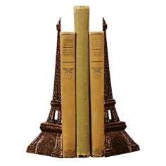Cast Iron Eiffel Tower Bookends