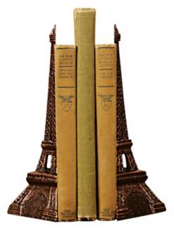 Eiffel Tower Bookends