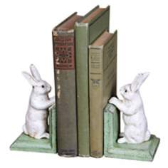 Cast Iron Bunny Bookends