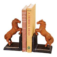 Cast Iron Horse Bookends