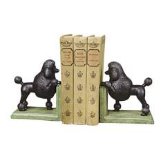 Cast Iron Gomez the Poodle Bookends