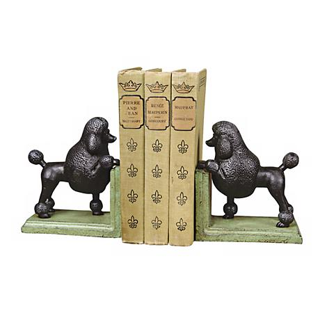 Cast Iron Gomez the Poodle Bookends Set