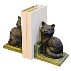 Cast Iron Black Cat Bookends
