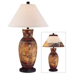 Carlton Haney Earth Tones Ceramic Table Lamp
