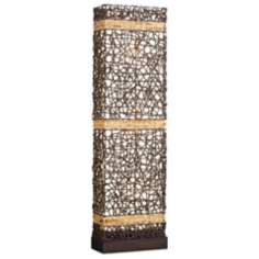 Kathy Ireland Gallery Seagrass Wicker Weave Floor Lamp