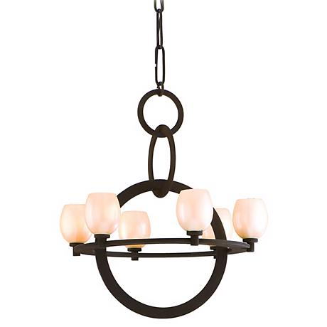 "Cirque Collection Brown Suede 28 1/2"" Wide Chandelier"