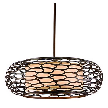 "Cesto Collection Napoli Bronze 24"" Wide Pendant Light"