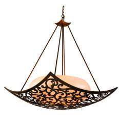 "Philippe Collection Bronze 31 1/2"" Wide Pendant Light"