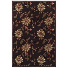 Floral Vine Sable Area Rug