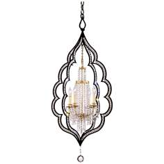 "Bijoux Crystal 20 1/2"" Wide 4-Light Chandelier"