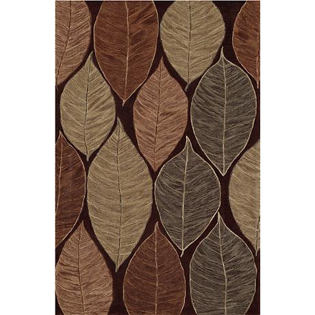 Leaf Trance Chocolate Area Rug