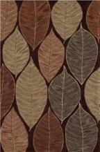 "Leaf Trance 5'x7'9"" Chocolate Area Rug"