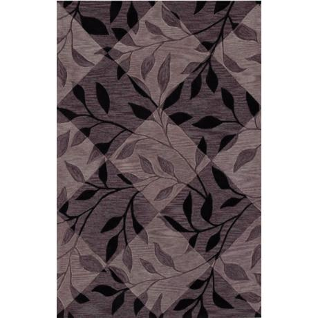 Leaf Texture Black Area Rug