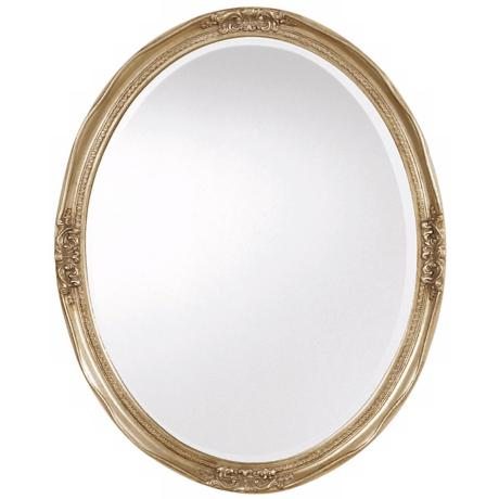 "Uttermost Newport Silver Leaf Finish 31"" High Wall Mirror"