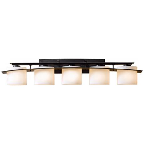 "Hubbardton Forge Stone Glass 42"" Wide Bath Light"