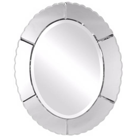 "Uttermost Evana Oval 30"" High Wall Mirror"
