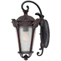 "Pompia Distressed Bronze 17"" High Outdoor Wall Light"
