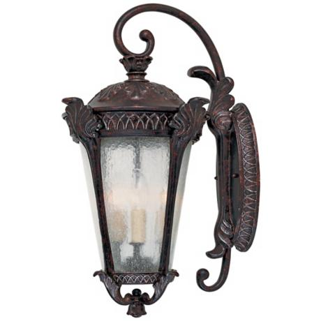 "Pompia Distressed Bronze 22 1/2"" High Outdoor Wall Light"