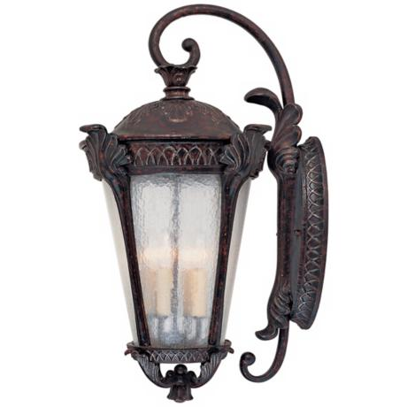 "Pompia Distressed Bronze 28 1/4"" High Outdoor Wall Light"