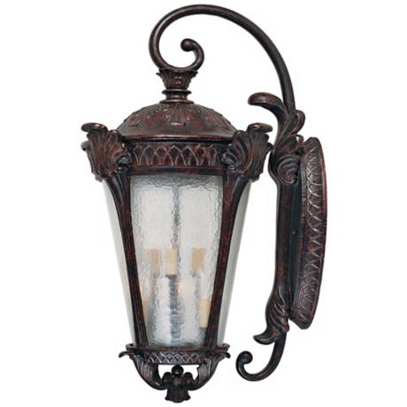 "Pompia Distressed Bronze 35"" High Outdoor Wall Light"