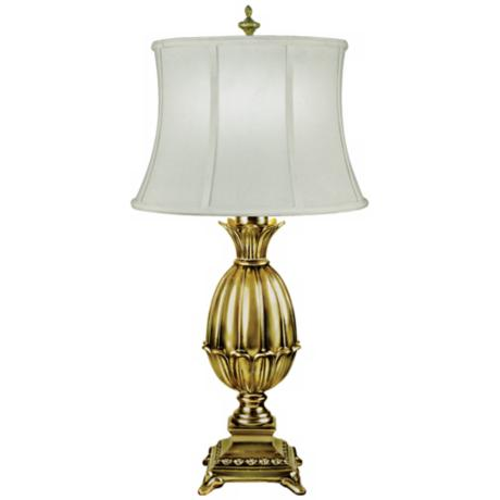 Footed Artichoke Polished Brass Finish Table Lamp