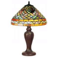 "Multicolor Tiffany Style 25"" High Table Lamp"