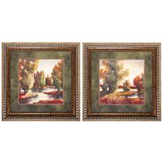 Set of 2 Woods by Creek Wall Art