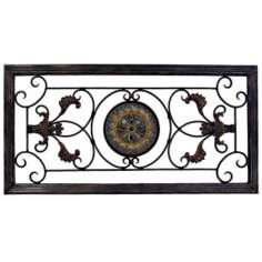 "Ornate Metal 36"" Wide Wall Art"