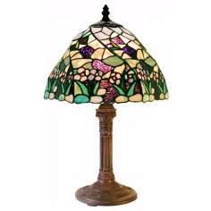 Mini Flowerbed Tiffany Style Accent Table Lamp