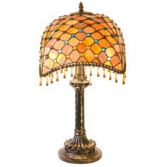 Melon Burst Tiffany Style Table Lamp