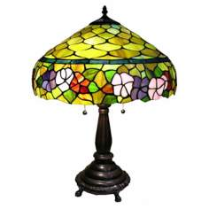 Floral Gallery Honey Glass Tiffany Style Table Lamp