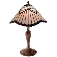 Latte Wave Tiffany Style Table Lamp
