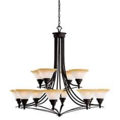 "Pomeroy Collection Black 44"" Wide 12-Light Large Chandelier"