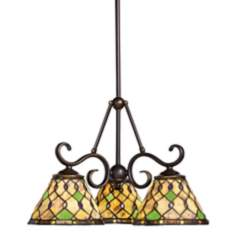"Timeless Traditions 20"" Wide 3-Light Chandelier"