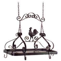 Rooster Hanging Kitchen Pot Rack