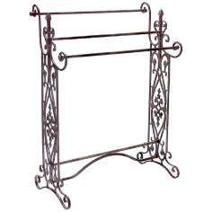 Wrought Iron Scroll Towel Rack