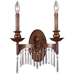 Kristabelle Bronze Finish 2-Light Wall Sconce