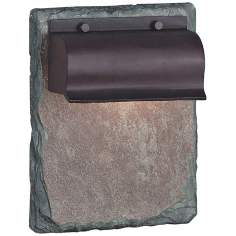 "Retron Natural Slate and Copper 10"" High Outdoor Wall Light"
