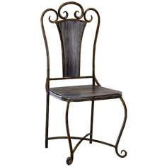 Lillian Iron and Wood Accent Chair