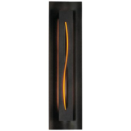 Gallery Amber Glass Curved Energy Efficient Wall Sconce
