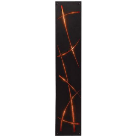 Washi Silhouette Mica Acrylic Energy Efficient Wall Sconce
