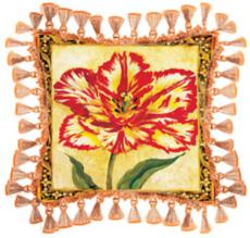 Red and Yellow Tulip Pillow at LampsPlus.com