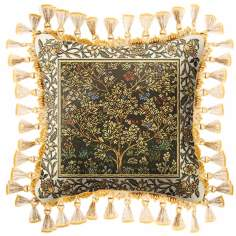 Umber Gold Tree of Life Accent Pillow