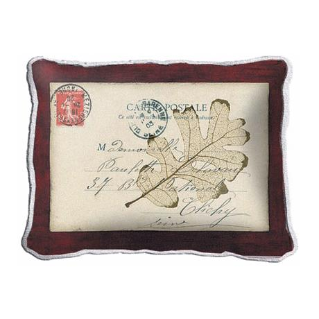 Postal Leaf Accent Pillow