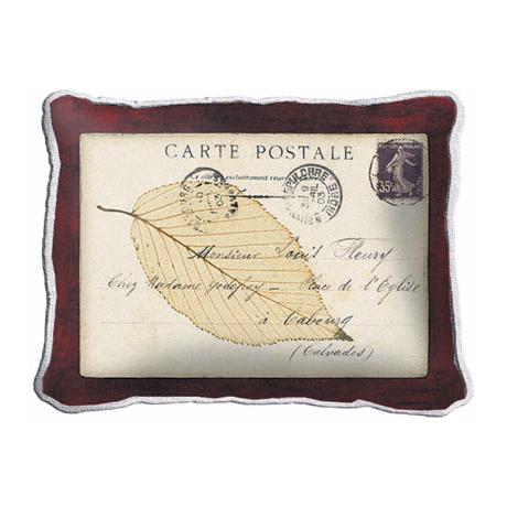 Postcard Leaf Accent Pillow