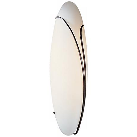 "Oval Reed Right Opal Glass 20"" High Wall Sconce"
