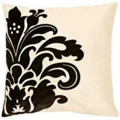 "Surya Beige and Black 18"" Square  Pillow"