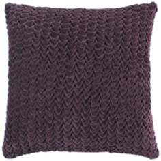 "Surya Handcrafted Plum 18"" Square Accent Pillow"