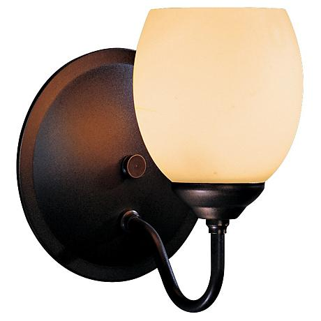 "Hubbardton Forge Stone Glass 7"" High Wall Sconce"
