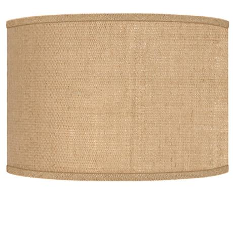 Woven Burlap Drum Lamp Shade 12x12x8.5 (Spider)
